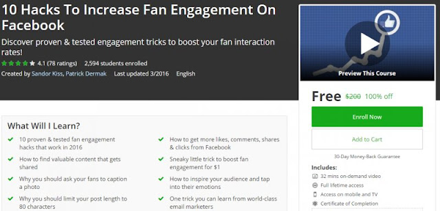 [100% Off] 10 Hacks To Increase Fan Engagement On Facebook| Worth 200$