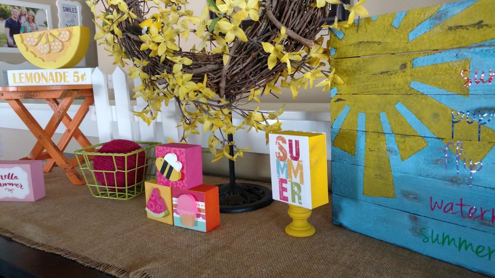 Burlap Flower Girl Basket Hobby Lobby : Summer mantle inspiration sunshine and munchkins
