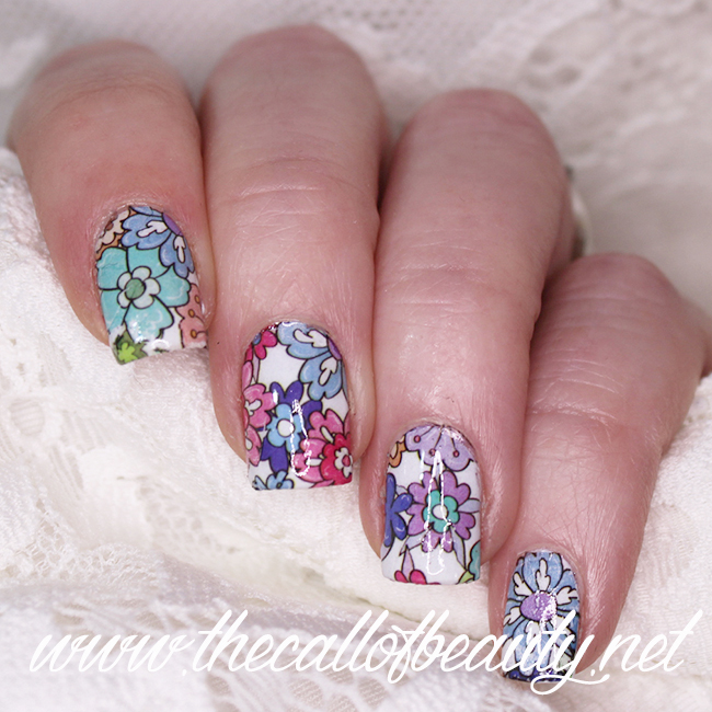 Nail Art Floral Morning