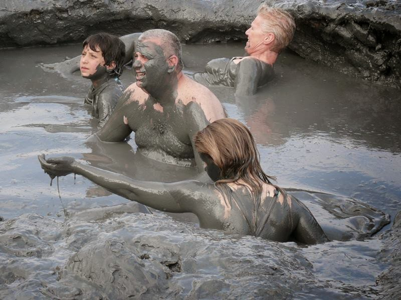 Dead Sea and then take a mud bath, an unforgettable experience that can live on a trip to Israel. A mud bath is a bath of mud, commonly from areas where hot spring water can combine with volcanic ash.