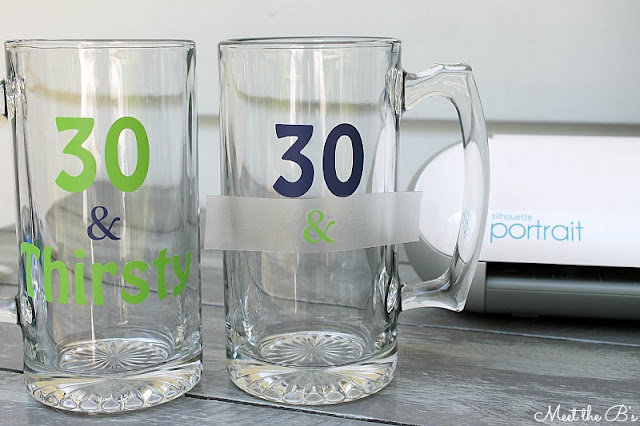 DIY Thirtieth Birthday Beer Mugs-- 30 & Thirsty!