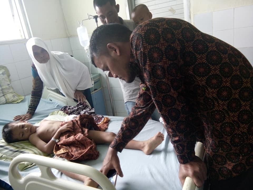 Muhammad Levi Penderita Tumor Jalani Operasi, Aceh Utara
