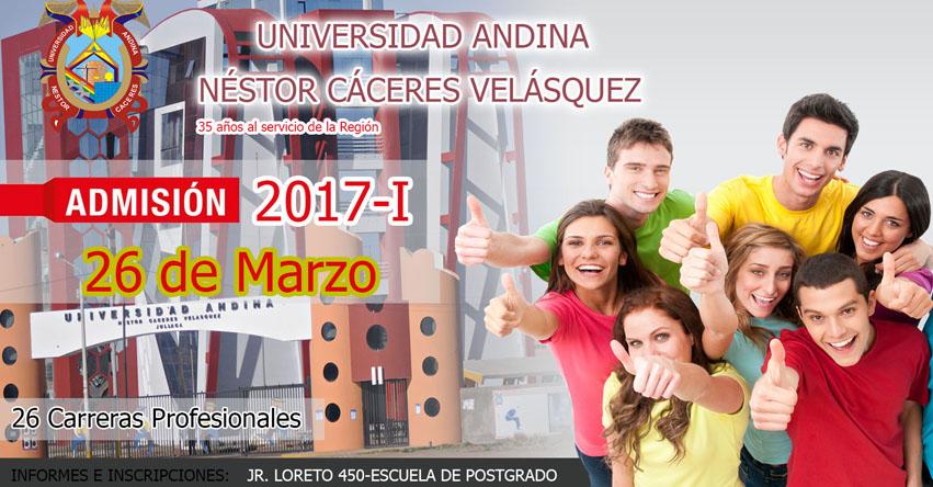 Admisión UANCV 2017-1 (Examen 26 Marzo) Sede Puno - Azángaro - Ayaviri - Ilave - Filial Arequipa - Universidad Andina Néstor Cáceres Velásquez (UANCV) www.uancv.edu.pe