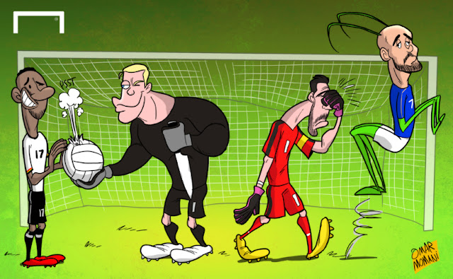 Jerome Boateng, Neuer, Buffon, Simone Zaza cartoon