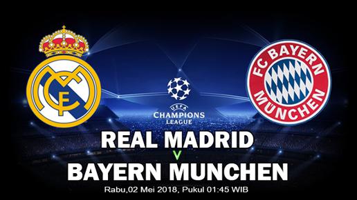Prediksi Real Madrid Vs Bayern München 2 Mei 2018