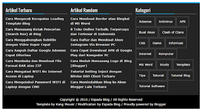 Cara Membuat Widget Footer 3 Kolom di Blog