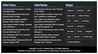 Cara Membuat Widget Footer 3 Kolom di Blog 5