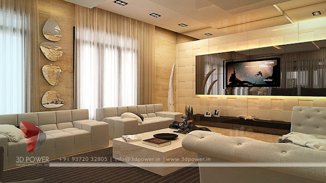 Interior design living and dining 3d rendering services for 3d view of house interior design