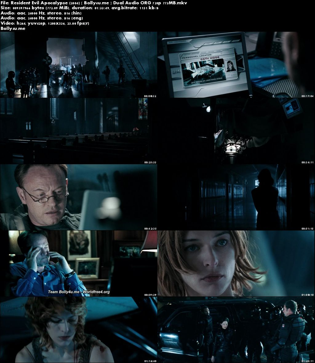 Resident Evil Apocalypse 2004 BRRip 300MB Hindi Dual Audio ORG 480p Download