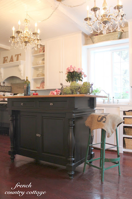 ... French Country Cottage. I love that this crusty neglected kitchen has  turned into something