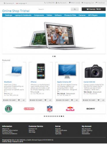 Online Shopping (PHP)