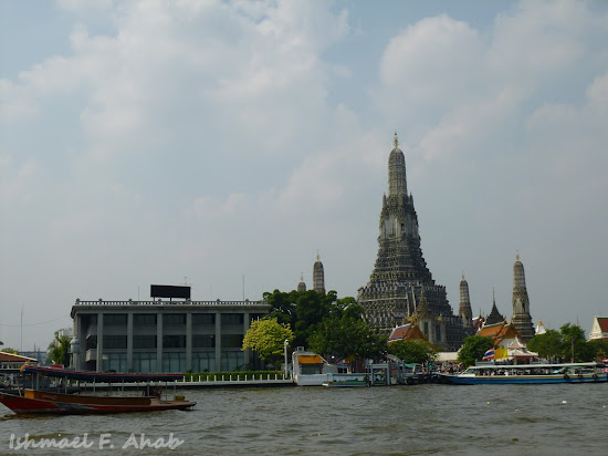 View of Wat Arun from Chao Phraya River
