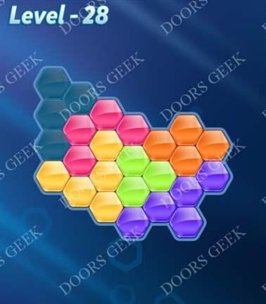 Block! Hexa Puzzle [Rainbow A] Level 28 Solution, Cheats, Walkthrough for android, iphone, ipad, ipod