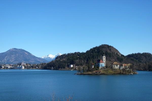 slovénie lac bled île