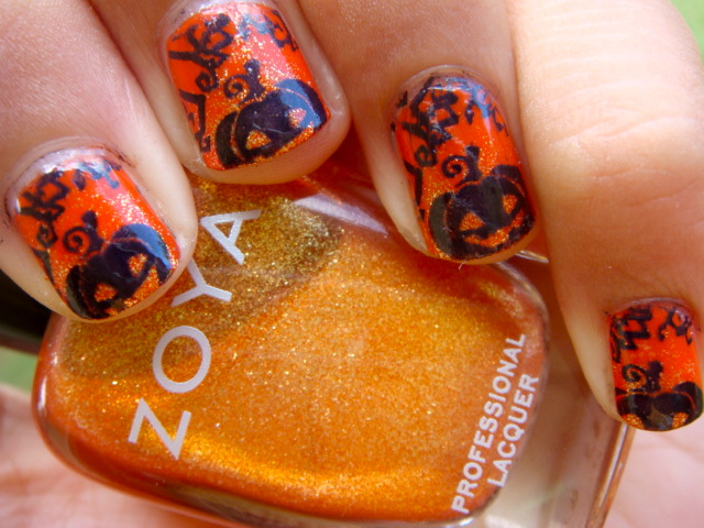 Posh for Polish: Halloween Nail Art Series: Pumpkin Nails