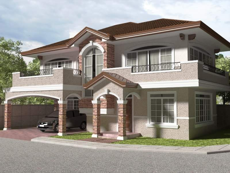 Beautiful 2 story house design house design for Home designs under 150k
