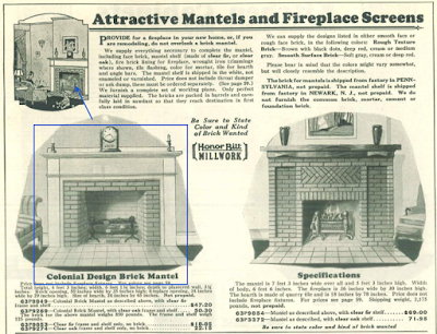 sears colonial design brick fireplace mantel from 1929 catalog