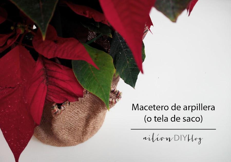 macetero diy flor de pascua