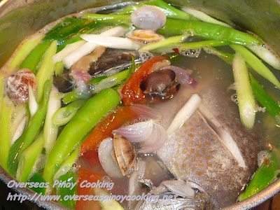 Seafood Tinowa - Cooking Procedure