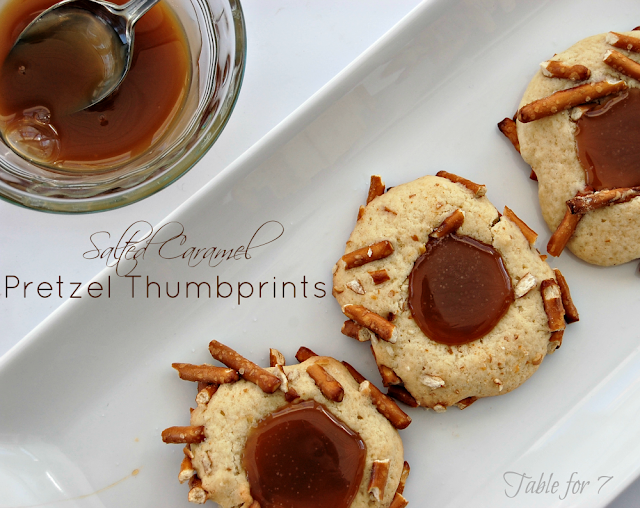 Salted Caramel Pretzel Thumbprints