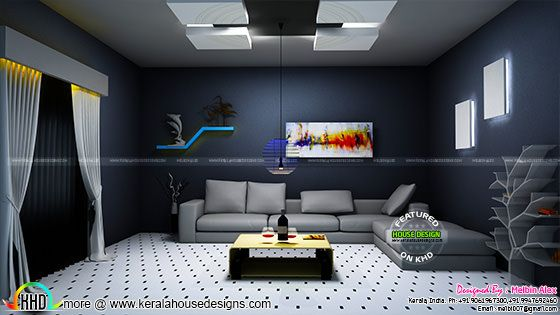 Kerala living interior design