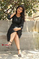 Telugu Actress Pavani Latest Pos in Black Short Dress at Smile Pictures Production No 1 Movie Opening  0062.JPG