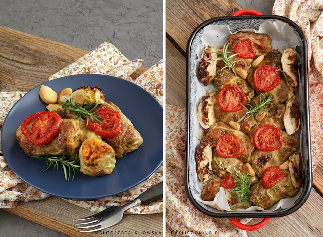 wegetariańskie gołąbki, bezmięsny obiad przepis, co na obiad bez mięsa, sprawdzony przepis na gołąbki, daylicooking