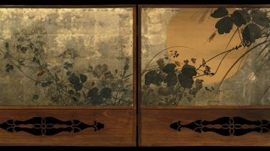Saludos al Otoño: Autumn Grasses in Moonlight de Shibata Zeshin