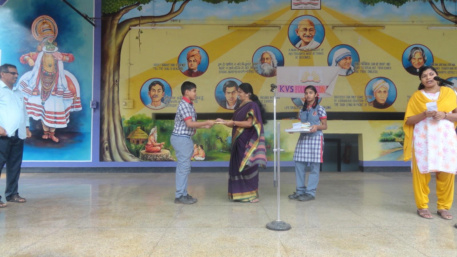 Kendriya Vidyalaya Ottapalam Library Best Reader Awards