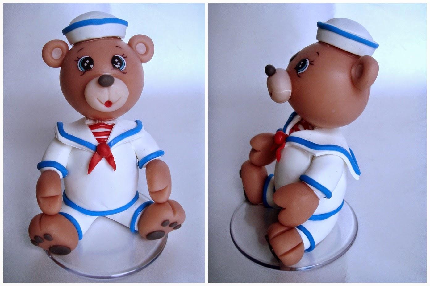 ursinho marinheiro biscuit
