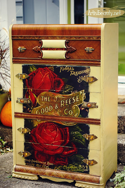 the good and reese co springfield ohio vintage advertisement color transfer graphic dresser makeover