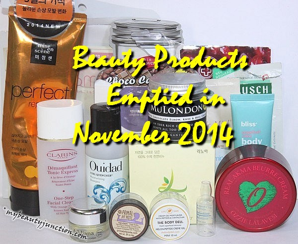 Beauty products emptied in November 2014