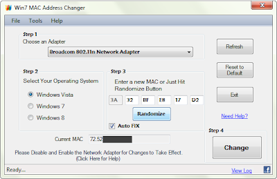 Win7 MAC Address Changer 2.0