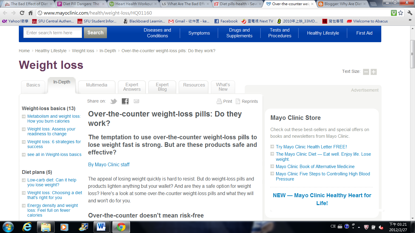Why are diet pills bad for your body?