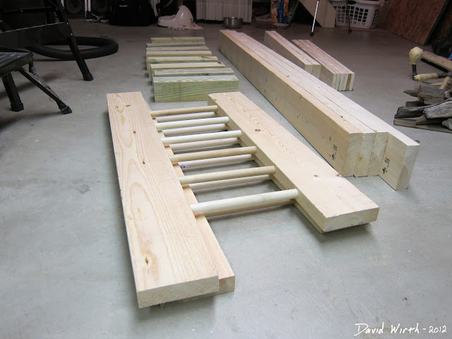 simple wood headboard, dowel, twin, queen, king,