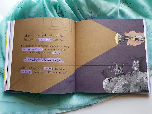 Dusia i Psinek Świnek nikt się nie boi - Justyna Bednarek - Marta Kurczewska - książeczki dla dzieci - Nasza Księgarnia - Potwory do szafy - Granna - gry dla dzieci - planszówki dla dzieci - gry planszowe - Kto mieszka za meblami - Pola Stępniewicz