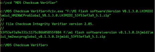 How to verify MD5 or SHA1 checksum of file on Windows Computer?