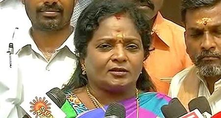 Tamizhisai press meet at RK nagar