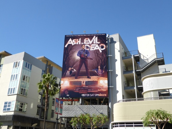 Ash vs Evil Dead season 1 Starz billboard