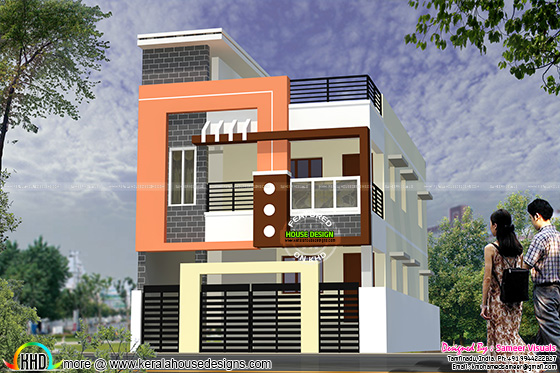 Modern South Indian Home Design 1900 Sq Ft