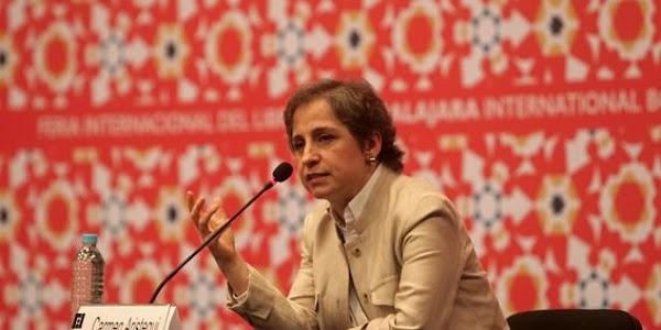 Carmen Aristegui propone eliminar el fuero a diputados y ganen sólo 5 mil pesos al mes, si dan resultados. ¿Yo estoy de acuerdo y tu?