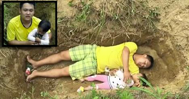 Father Digs A Grave For His Ill Daughter Because He Can No Longer Afford Her Medical Bills