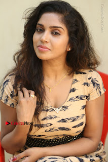 Telugu Actress Karunya Chowdary Stills in Short Dress at ATM Not Working Press Meet  0218.jpg
