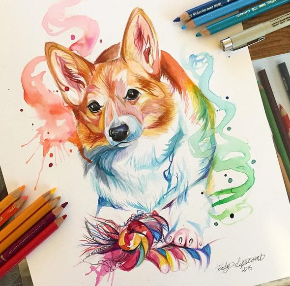 gambar keren kreatif dan menarik dengan menggunakan pensil warna-13