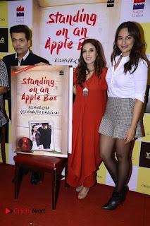 Sonakshi Sinha Karan Johar at Aishwarya Rajinikanth Standing on an Apple Box Book Launch Event  0040.jpg