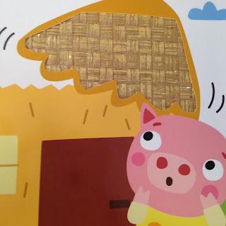 Les Trois Petits Cochons Texture Maison de Paille