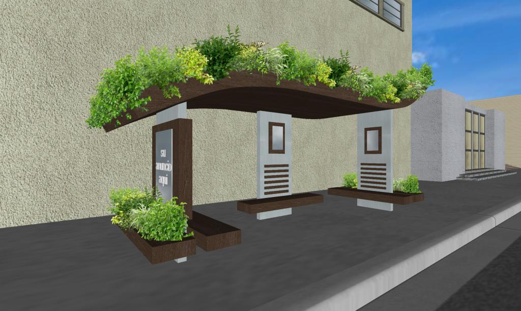 3 parabuses ecologicos con jardines en la azotea y - Jardineras de diseno ...