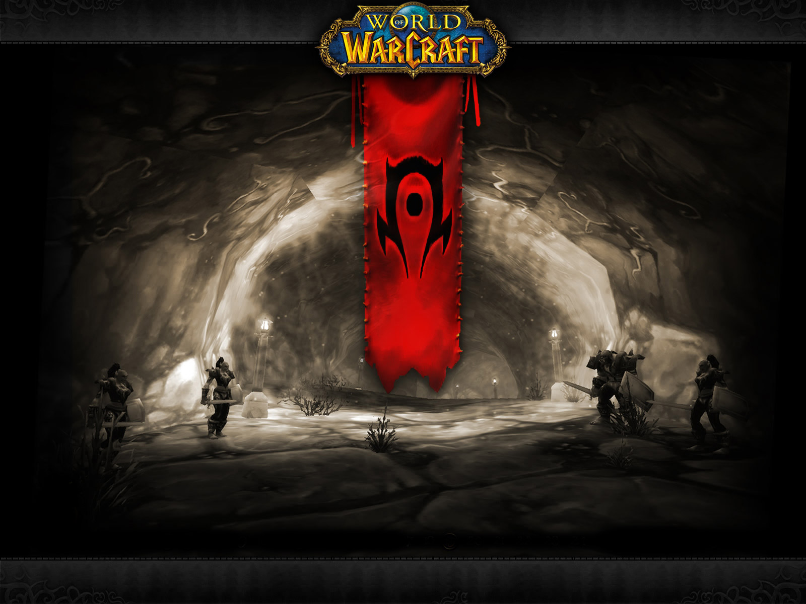 Video Game Gallery World Of Warcraft Horde Banner Wallpaper