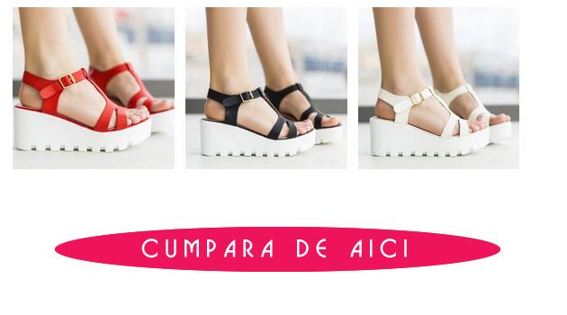 Sandale cu platforma casual 2016 - rosii, albe, negre