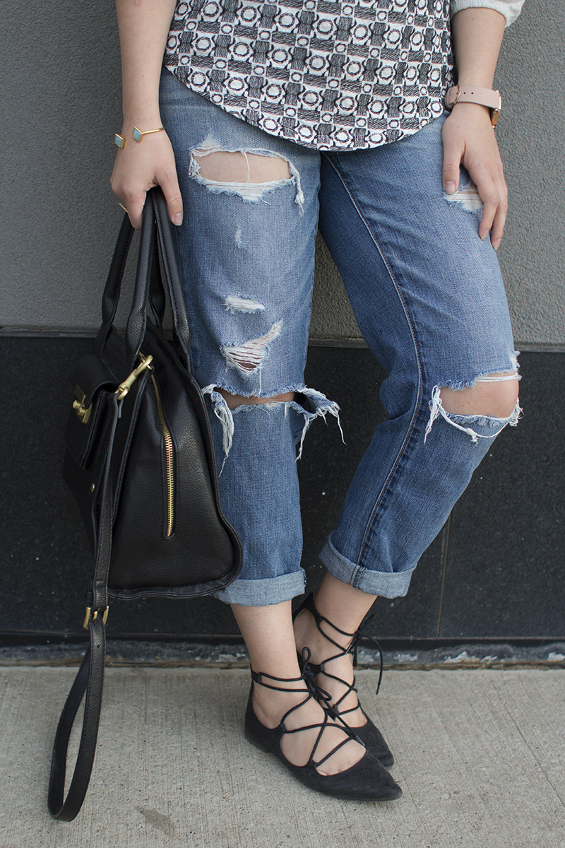 Ripped denim